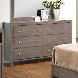 Earby 6 Drawer Double Dresser with Mirror by Three Posts