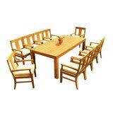 Samir 11 Piece Teak Dining Set