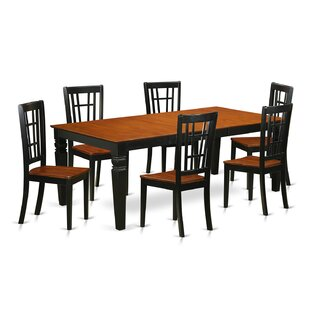 Darby Home Co Beesley 7 Piece Black/Cherry Dining Set