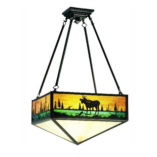 Meyda Tiffany Moose Creek 3-Light Semi Flush Mount