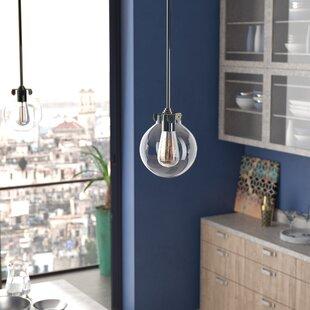 Dingess 1 Light Globe Pendant by Ebern Designs