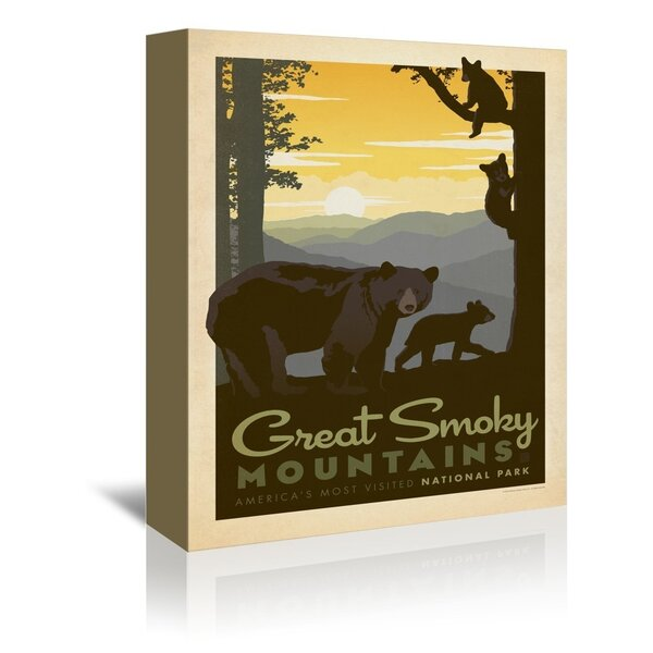 East Urban Home National Park Great Smoky Mountains Bear Family Vintage Advertisement On Wrapped Canvas By Anderson Design Group Reviews Wayfair
