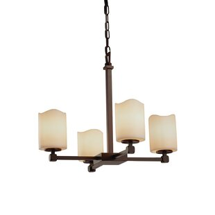 Loon Peak Wantage 4-Light Shaded Chandelier