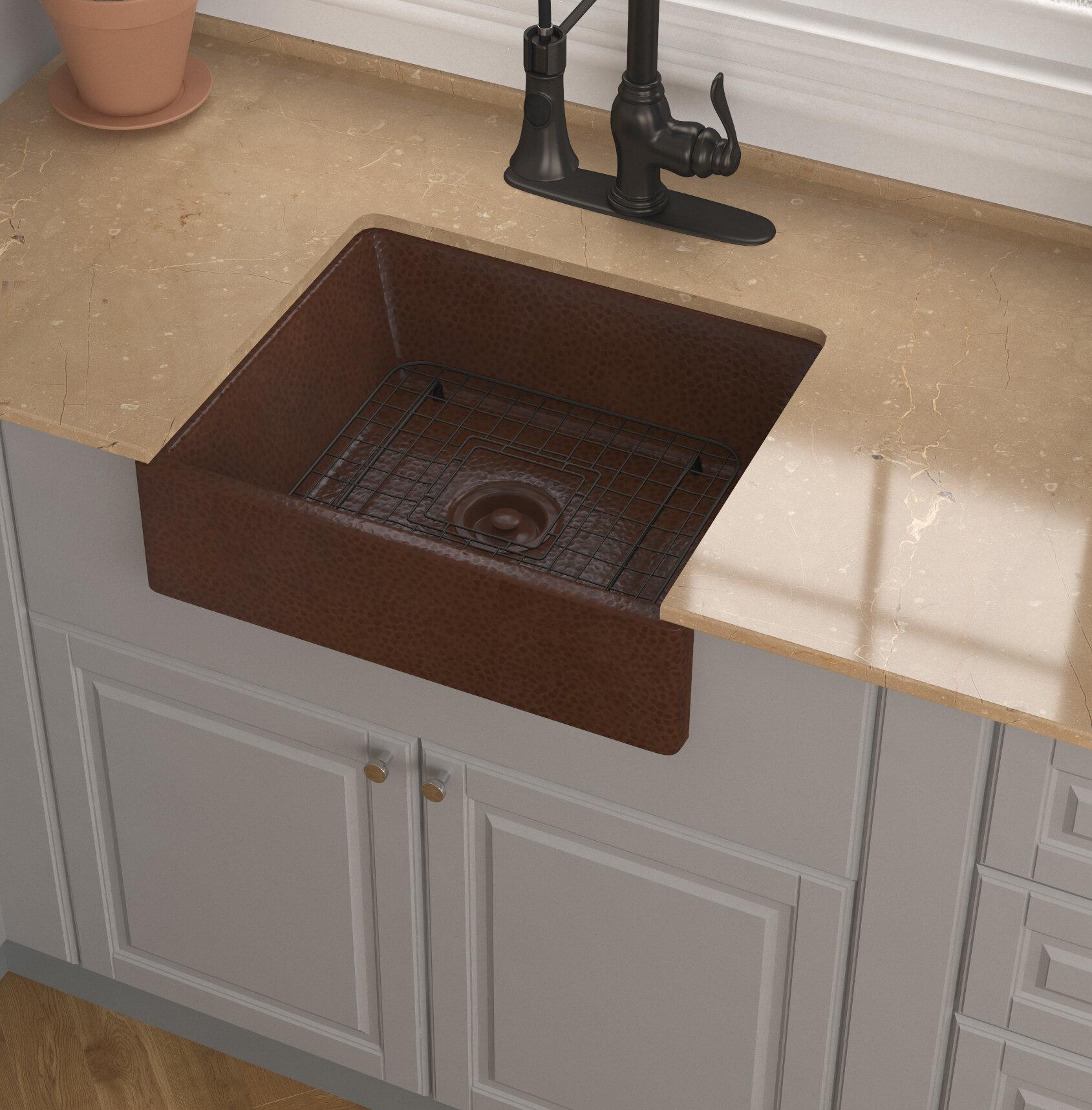 Anzzi Attica Hammered Antique Copper Copper Handmade Rectangular Vessel Bathroom Sink Wayfair