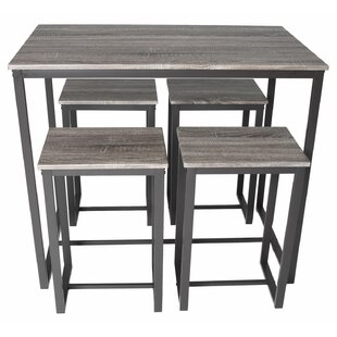 Hallam Bistro 5 Piece Pub Table Set by Turn on the Brights