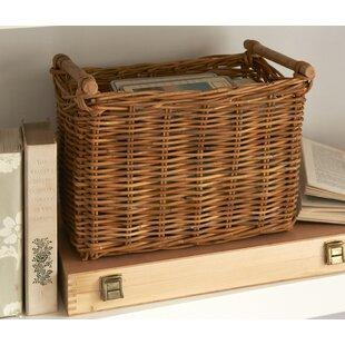 Bramdean Wicker/Rattan Basket By Symple Stuff