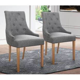 Daley Upholstered Dining Chair Set of 2 by Gracie Oaks