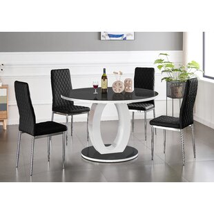 Safak Dining Set With 6 Chairs By Ebern Designs