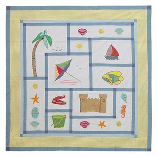 Summer Fun Cotton Single Shower Curtain