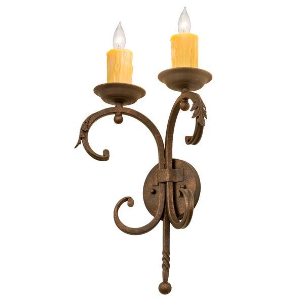 Fleur De Lis Living Griffing 2 Light Candle Wall Light Wayfair