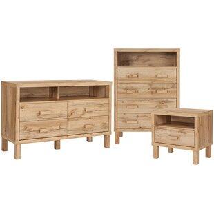 Manon 3 Piece Dresser and Chest Set