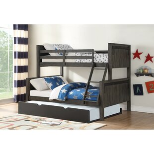 Colombo Barn Door Twin Over Full Bunk Bed with Trundle by Harriet Bee