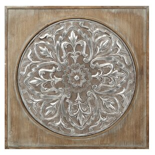 Wood And Metal Chic Square Wall Decor
