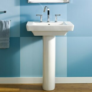 Price Check Boulevard Vitreous China 24 Pedestal Bathroom Sink with Overflow ByAmerican Standard