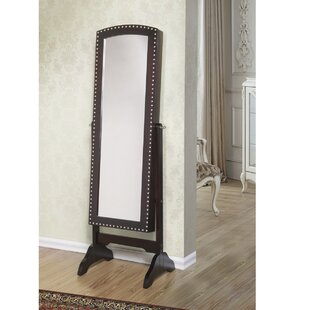Alcott Hill Huggins Free Standing Jewelry Armoire with Mirror