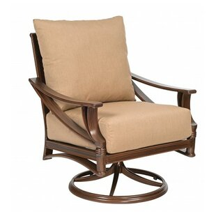 Arkadia Swivel Rocking Patio Chair with Cushions By Woodard