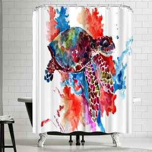 Suren Nersisyan Sea Turtle II Single Shower Curtain