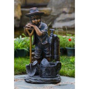 Jeco Inc. Resin/Fiberglass Boy with Bib Tap Water Fountain