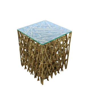 Ludlow Maze Bamboo End Table