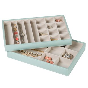 Stackable 2 Piece Accessory Tray for Showcase Display By Rebrilliant