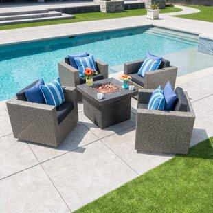 Burch 5 Piece Conversation Set with Cushions ByMercury Row