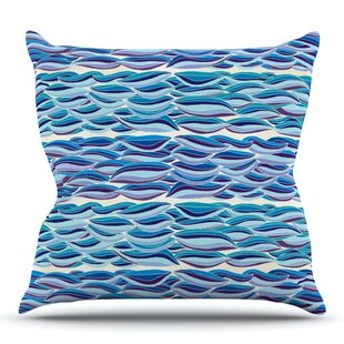 The High Sea By Pom Graphic Design Outdoor Throw Pillow by East Urban Home