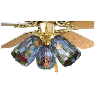 Tiffany 4 Gl Bowl Ceiling Fan Er Shade