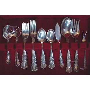 Buttercup 46 Piece Sterling Silver Flatware Set, Service for 8