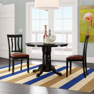 Langwater 3 Piece Pedestal Dining Set Beachcrest Home