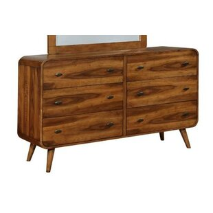 Drennon 6 Drawer Double Dresser with Mirror by Corrigan Studio