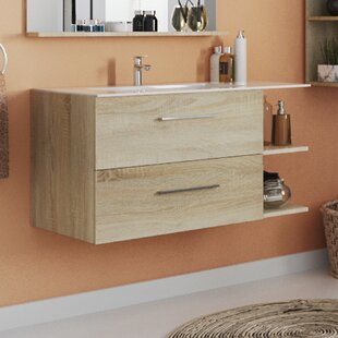 Toby 910mm Wall Hung Single Vanity Unit By Mercury Row