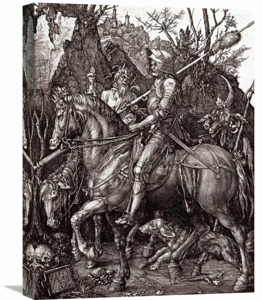 Global Gallery Knight Death And The Devil By Albrecht Durer Graphic Art On Wrapped Canvas Wayfair