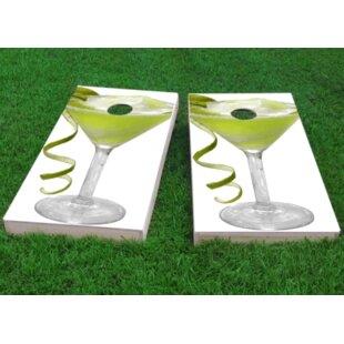 Custom Cornhole Boards Margarita Glass Cornhole Game (Set of 2)