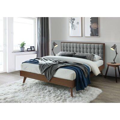 Abril Upholstered Platform Bed Corrigan Studio Color: Gray, Size: King