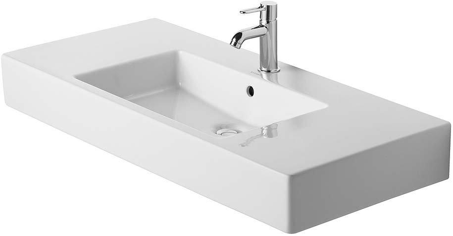 Duravit Vero Ceramic Rectangular Wall Mount Bathroom Sink With Overflow Wayfair