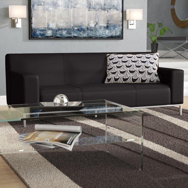 Soft Leather Sofa   Wayfair