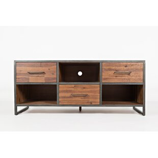 Maven Wood and Metal Media Console Table By 17 Stories
