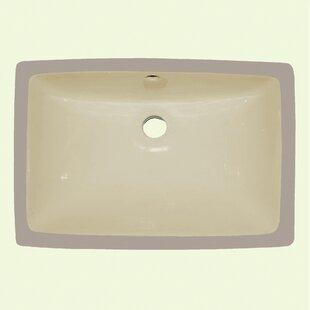 Best Price Ceramic Rectangular Drop-In Bathroom Sink ByYosemite Home Decor