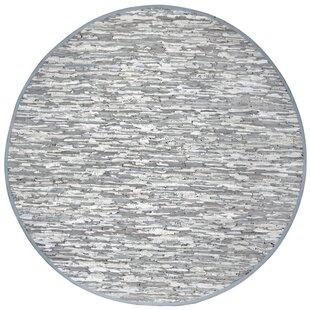 Look for Sandford Flatweave Cotton Grey/White Area Rug ByLatitude Run