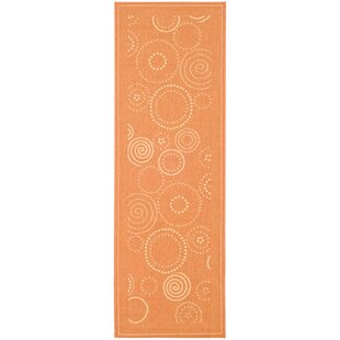 Inexpensive Mullen Circle Terracotta / Natural Runner Rug ByEbern Designs