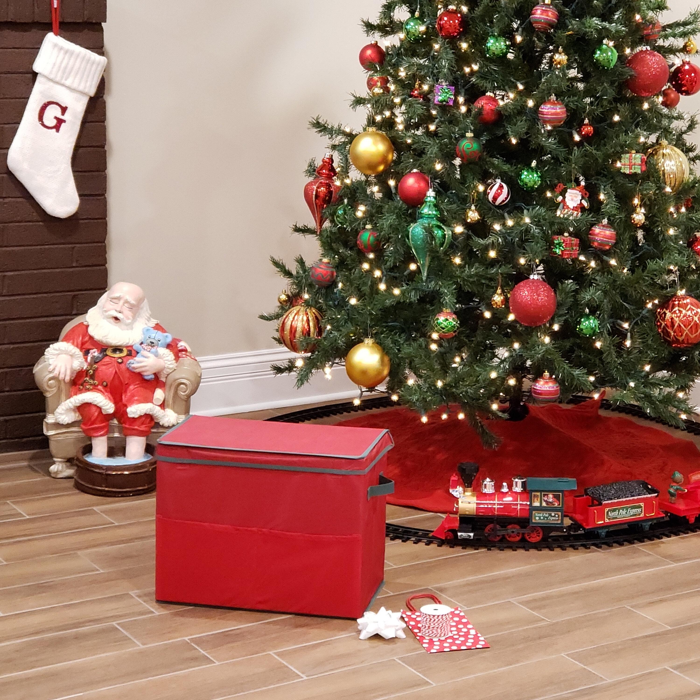 Homz Gift Bag Storage Box Red With Green Trim Reviews Wayfair