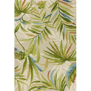 Stromberg Hand-Woven Sand/Green Indoor/Outdoor Area Rug