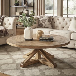 Peralta Rustic X-Base Coffee Table