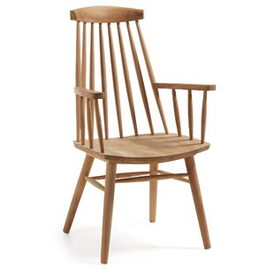 Solid Teak Wood Armchair  sc 1 st  Wayfair : wooden chairs with arms - lorbestier.org