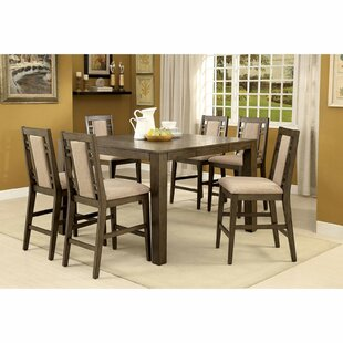 Livingon 7 Piece Counter Height Extendable Dining Set by Canora Grey