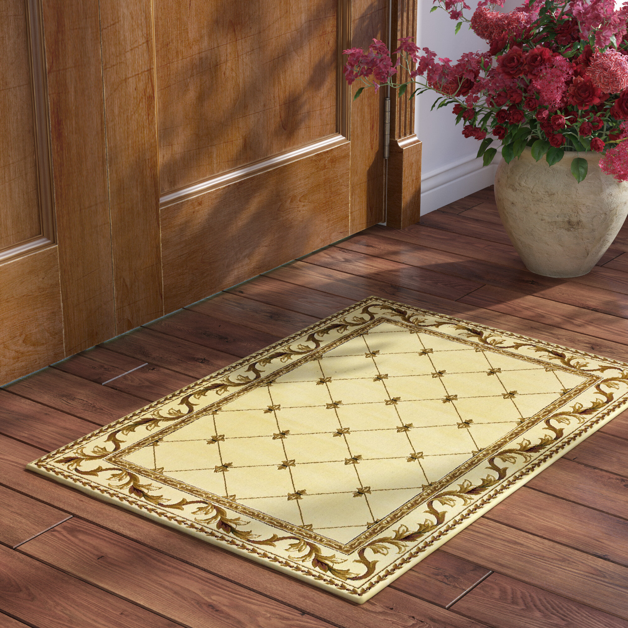 Astoria Grand Soho Fleur De Lis Ivory Area Rug Reviews Wayfair