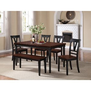 Donnelly 6 Piece Dining Set by A&J Homes Studio