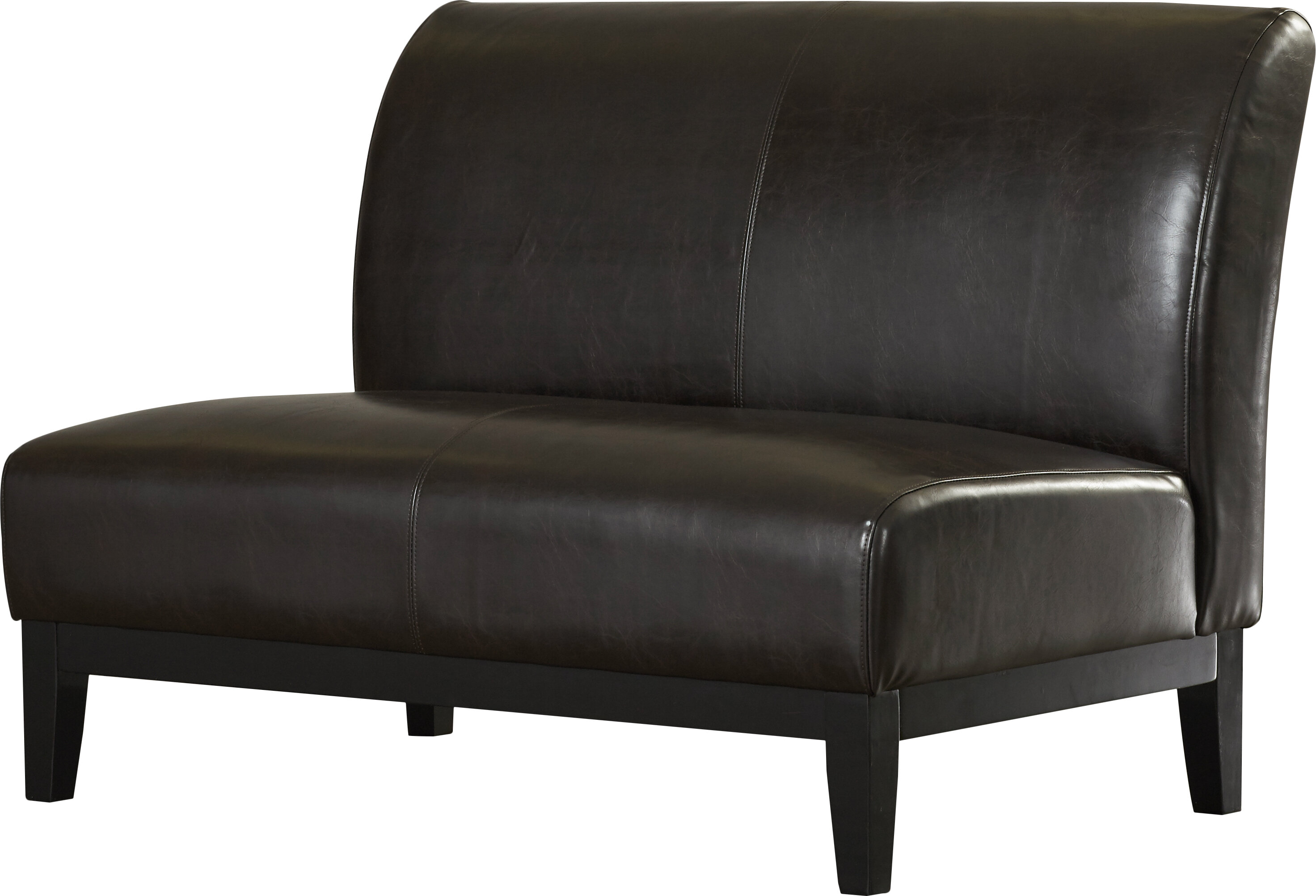 Andover Mills Jonas Faux Leather 46 5 Wide Armless Loveseat Reviews Wayfair