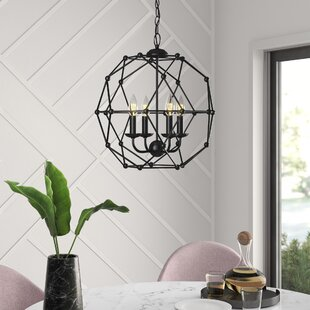 Cavanagh 4-Light Geometric Chandelier