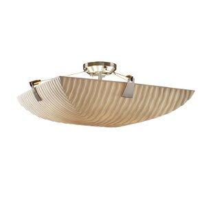 Salaam 6-Light Square Bowl Semi Flush Mount by World Menagerie